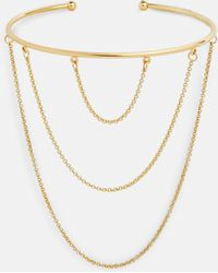 Missguided - Gold Drop Chain Arm Cuff - Lyst
