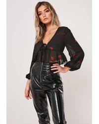 Missguided High Shine Puffer Jacket - Brown