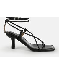 Missguided Strappy Toe Post Mid Heel Sandals - Black