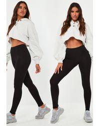 Missguided 2 Pack Basic Leggings - Black
