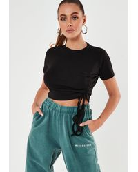 Missguided - Ruched Seam Crop Top - Lyst