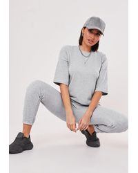 Missguided Grey Co Ord T Shirt And Jogger Set