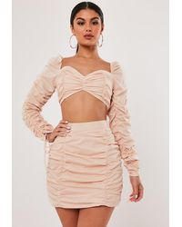Missguided Stassie X Blush Co Ord Ruched Mini Skirt - Multicolour