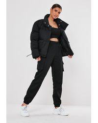 Missguided Petite Black Ultimate Oversized Puffer Jacket