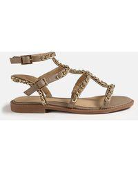 Missguided Chain Gladiator Sandals - Multicolour