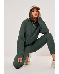 Missguided Basic Hoodie And Jogger Co Ord Set - Green