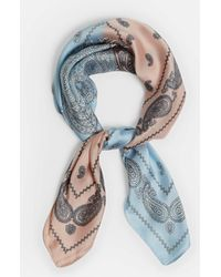 Missguided - Blue Contrast Print Neckerchief - Lyst