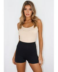 Missguided Msgd Gathered Gym Shorts - Black