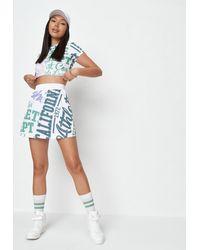 Missguided - Vintage Sport Graphic Tennis Mini Skirt - Lyst