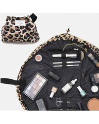 Missguided The Flat Lay Co Leopard Print Makeup Bag - Multicolour