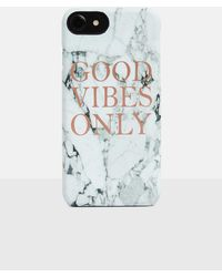 Missguided White Marble Good Vibes Iphone 7 Case