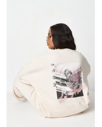 Missguided - Plus Size Sand Graphic Sweatshirt - Lyst