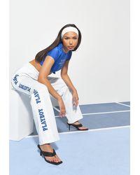Missguided X Grey Marl Sports Wide Leg Joggers