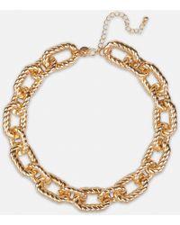 Missguided Look Oversized Twist Necklace - Metallic