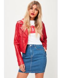 Denim Mini Skirt - Red Missguided Discount Outlet Discount Really Wholesale Quality Marketable For Sale hNUvwG2ZE