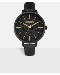 Missguided Black Glitter Detail Watch