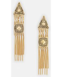 Missguided - Gold Drop Triangle Earrings - Lyst