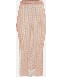 Missguided Co Ord Metallic Chain Knitted Maxi Skirt - Pink
