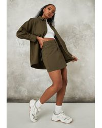 Missguided Co Ord Mini Skirt - Natural