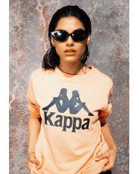 Missguided - Kappa Pink Authentic Zemin Fleece Top - Lyst