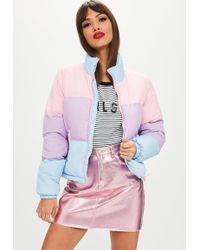 Missguided - Colour Block Padded Jacket - Lyst