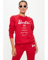 Missguided - Barbie X Red City Printed Sweatshirt - Lyst