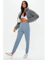 Missguided - Blue Basic Joggers - Lyst