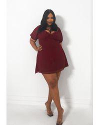 Missguided Size Burgundy Dobby Milkmaid Dress - Red