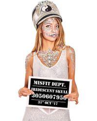 Missguided - The Gypsy Shrine Silver Skull Chest Body Jewel - Lyst