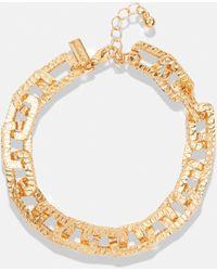 Missguided Bracelet aspect doré texturé avec liens en chaîne - Métallisé