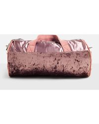 Missguided - Pink Velour Detail Holdall Bag - Lyst
