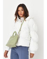 Missguided Circular Handle Tote Bag - Green