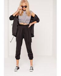 Missguided Side Pocket D Ring Pants Black
