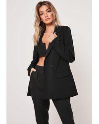 Missguided Black Oversized Longline Blazer