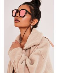 Missguided Sweet Dreams Rose Lens Sunglasses - Pink