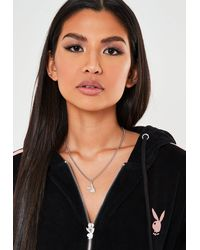 Missguided X Silver Bunny Necklace - Metallic