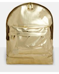 Missguided - Mi Pac Gold Metallic Large Backpack - Lyst