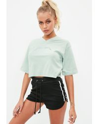 Missguided   Active Green Cropped Voltage T Shirt   Lyst