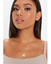 Missguided - Gold Plated Ss Coin Necklace - Lyst