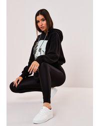 Missguided Size Black Disco Leggings