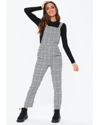 0316b995bd7 Missguided Grey Ribbed Slouch Lounge Jumpsuit in Gray - Lyst