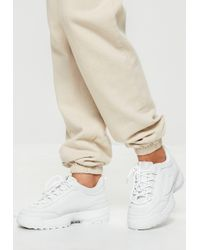 Missguided - White Chunky Sole Minimal Trainers - Lyst