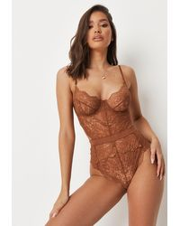 Missguided Ann Summers Hold Me Tight Nude Coco Babydoll - Multicolour