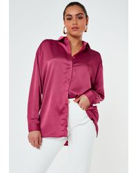 Missguided Extreme Oversized Satin Shirt - Multicolour