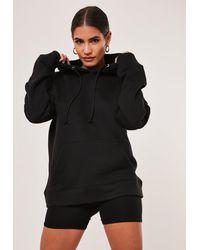 Missguided Petite Black Basic Oversized Hoodie
