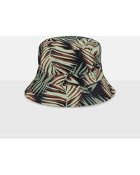Missguided Palm Print Bucket Hat - Green