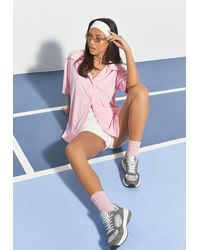Missguided X Pink Bunny Repeat Towelling Shirt