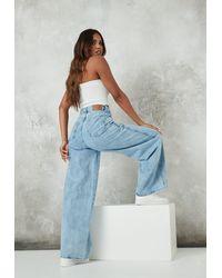 Missguided Blue Baggy Boyfriend Jeans