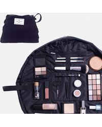 Missguided The Flat Lay Classic Black Makeup Bag - Blue