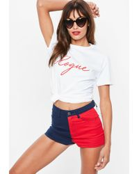 Missguided - White Rogue Slogan T Shirt - Lyst